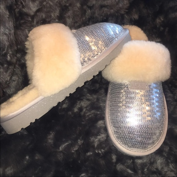 c1c18a3c09b Ugg Dazzle Sequin Slide Slipper